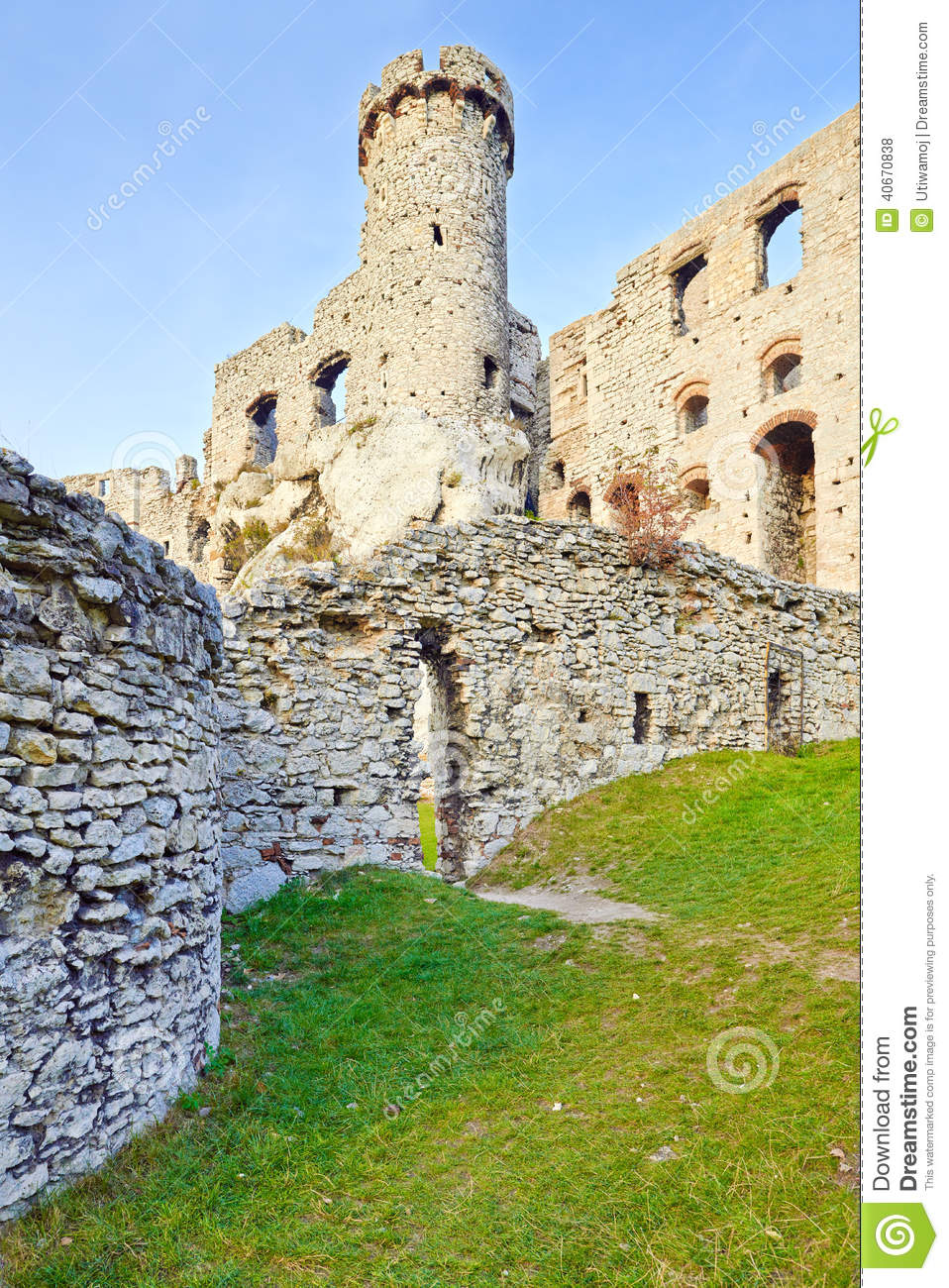 Old Ruins Ogrodzieniec Castle Poland Stock Photo  Image