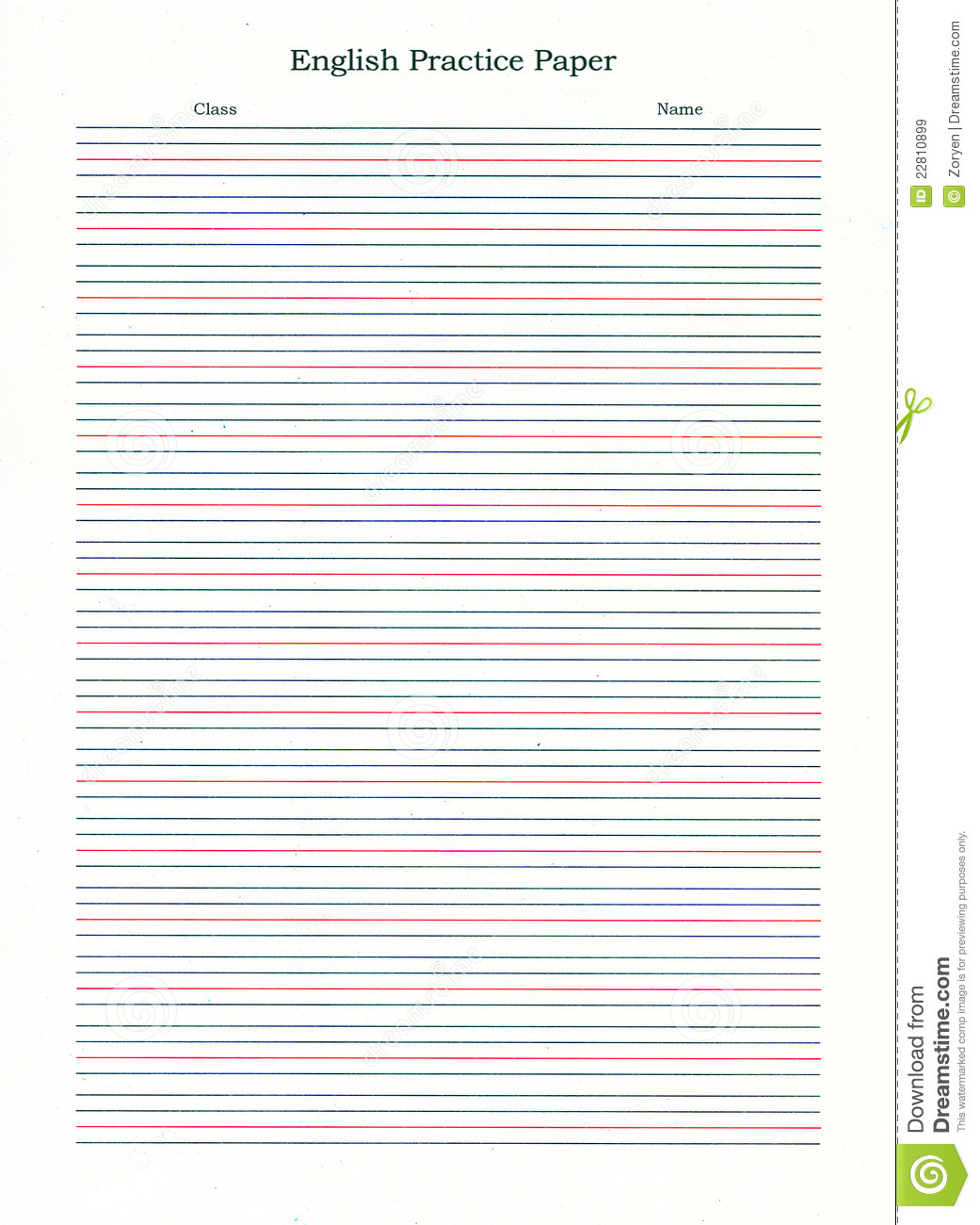 Ruled Writing Paper Royalty Free Stock Images
