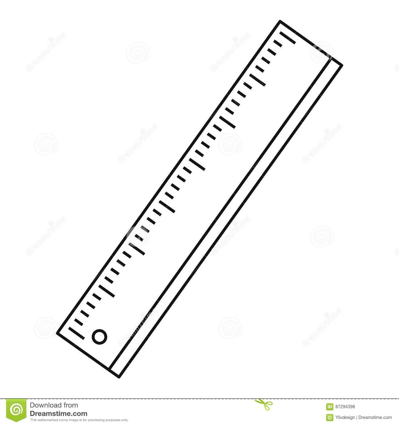 Ruler Icon Outline Style Stock Vector Illustration Of