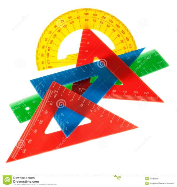 Ruler Triangle Protractor School. Royalty
