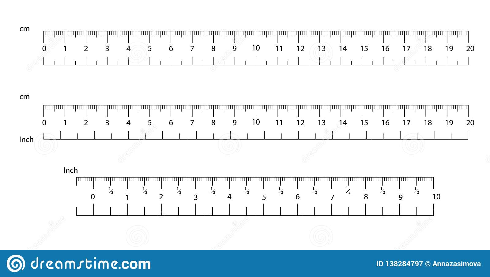 Rulers Inch And Metric Rulers Measuring Tool Centimeters