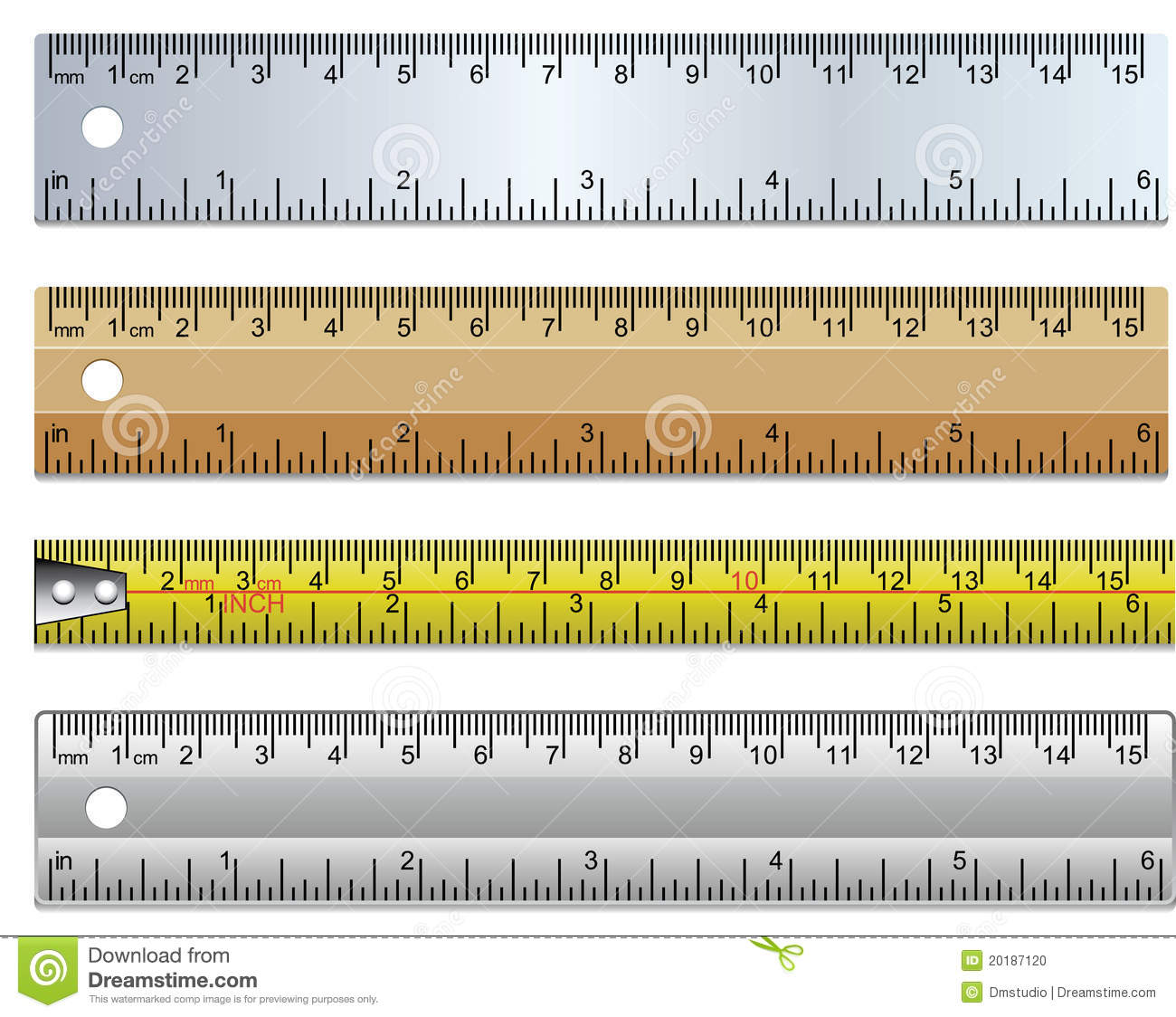 Rulers And Measuring Tape Stock Vector Illustration Of Black