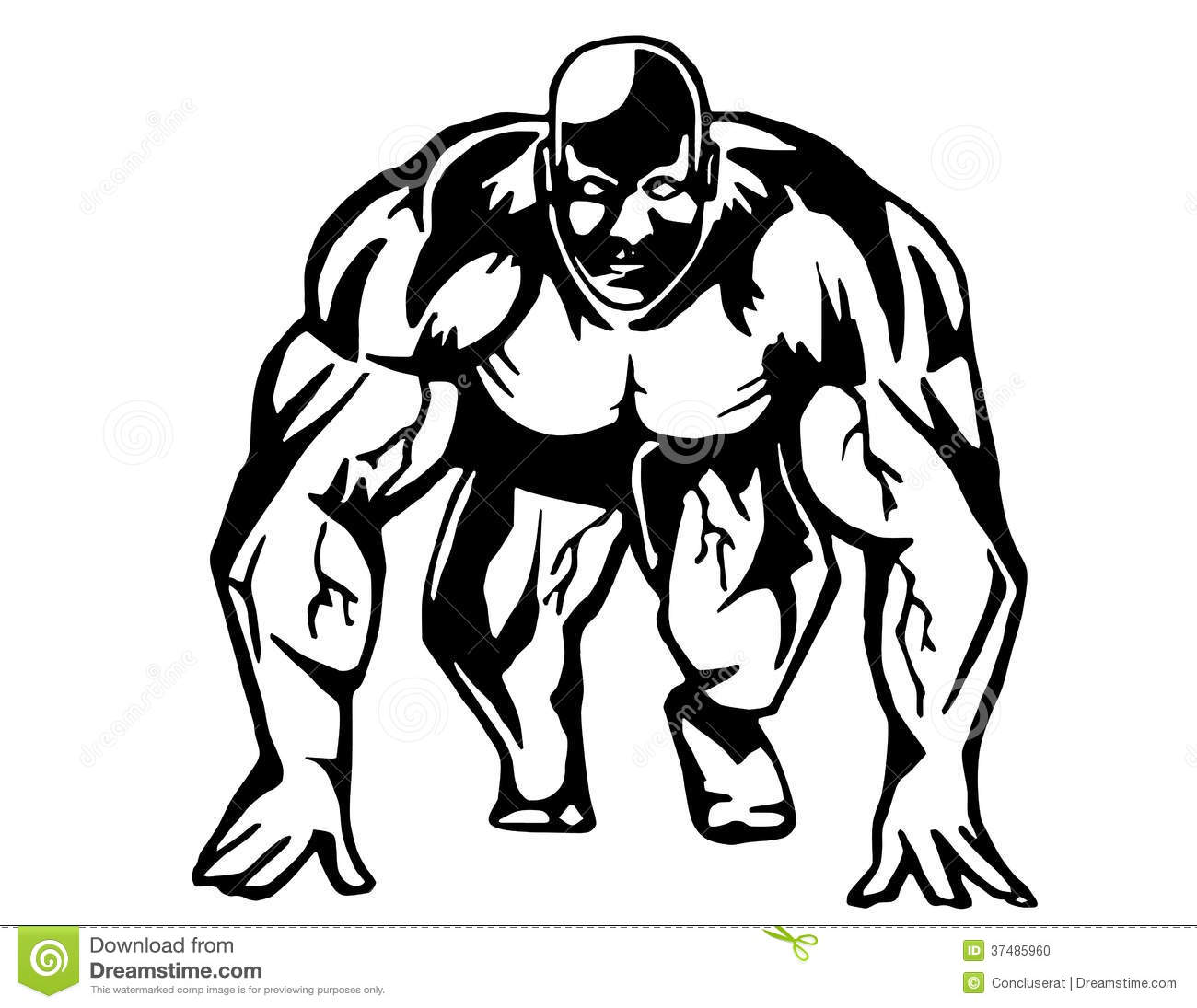 Running Bodybuilder Stock Vector Illustration Of Running