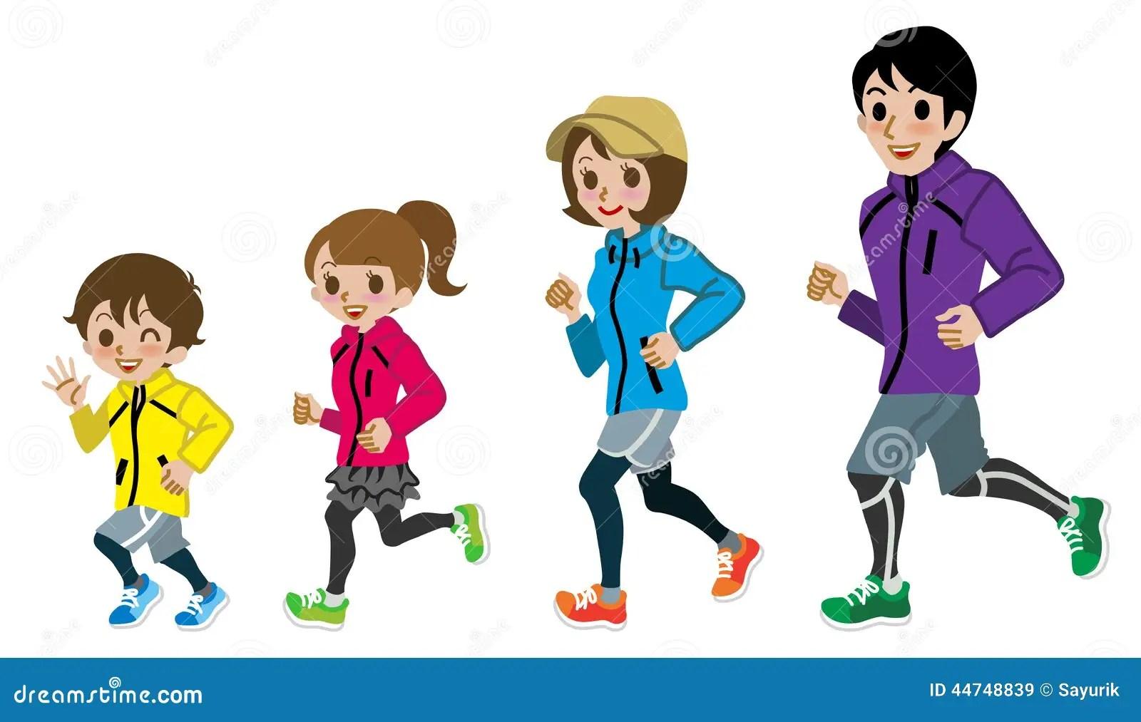 Exercise Family Clip Art