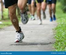 Running Feet Stock Of Sprint Dash