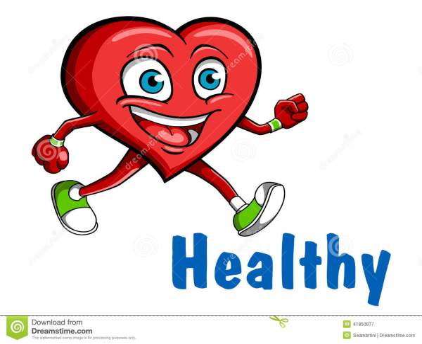 Healthy Running Heart Clip Art