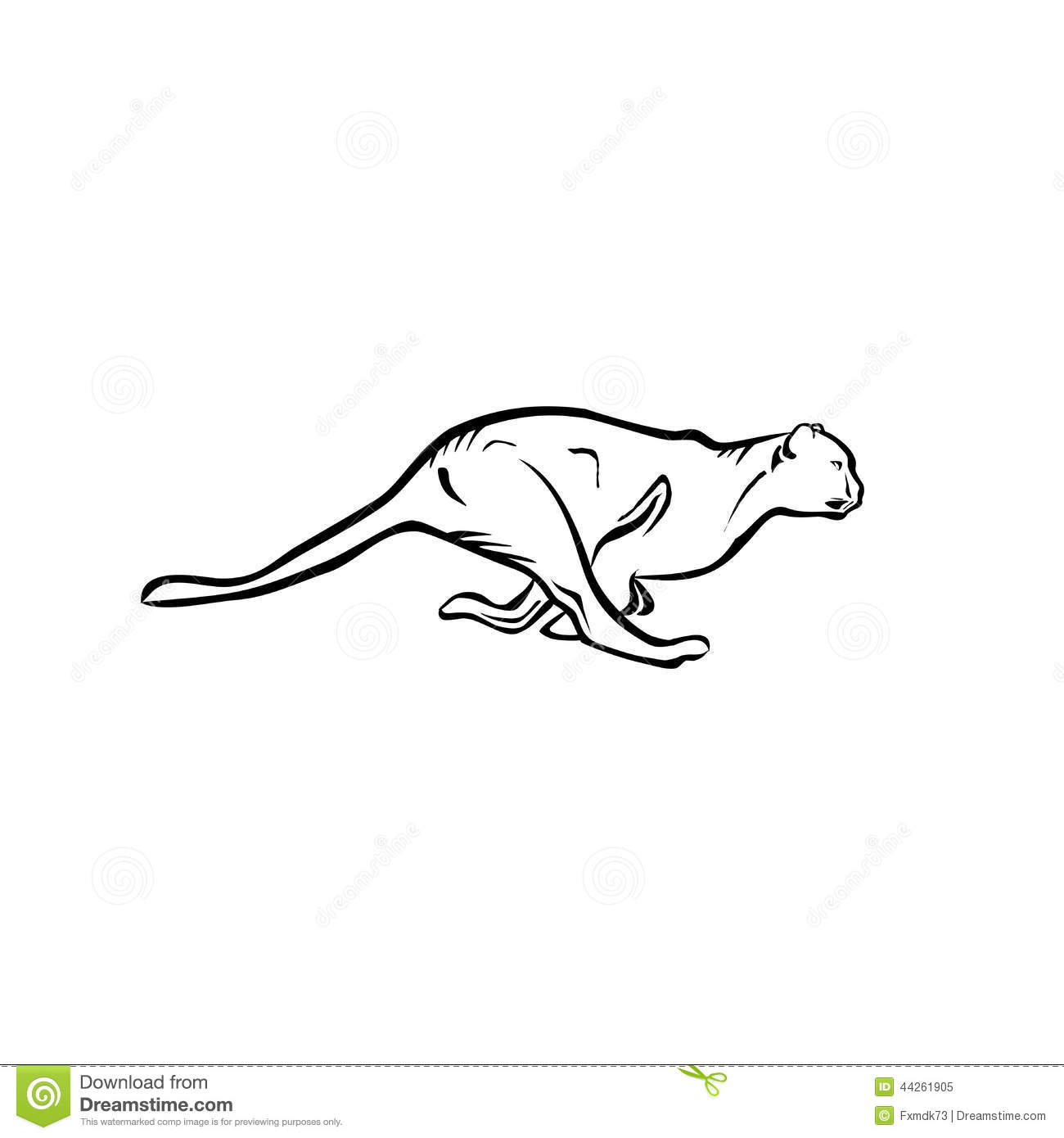 Running Jaguar Stock Vector Illustration Of Cheetah