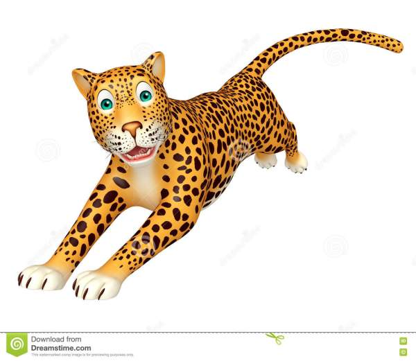 Running Leopard Cartoon