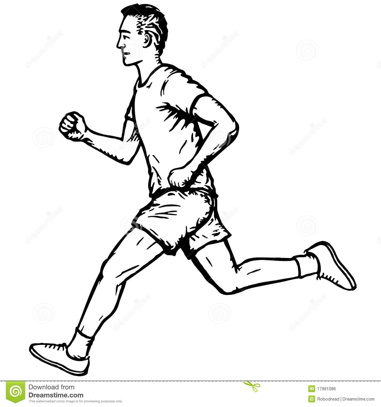 Running Man Stock Vector Illustration Of Fast Movement
