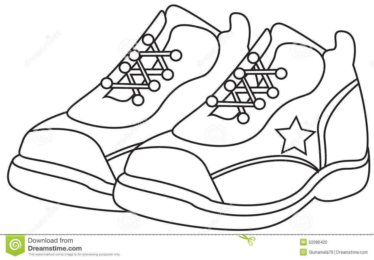 Shoes Coloring Stock Illustrations 1 310 Shoes Coloring Stock Illustrations Vectors Clipart Dreamstime