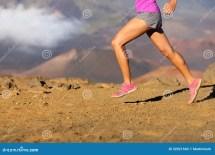 Running Sport Fitness Woman - Closeup Stock