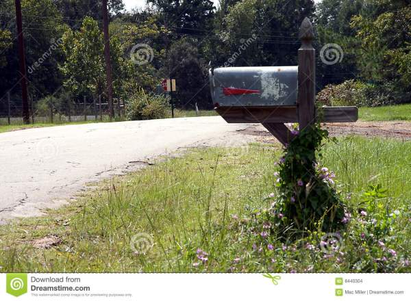 rural country mailbox stock