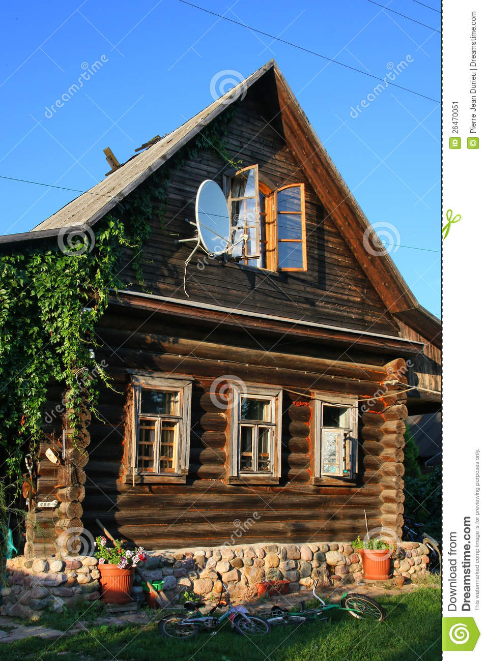 Russian House stock image Image of ecology antenna  26470051