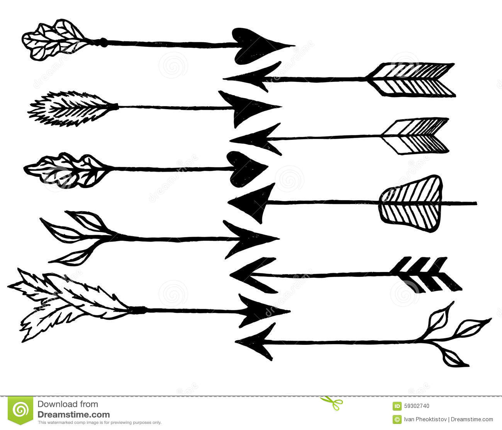 Rustic Arrows Stock Vector Illustration Of Element
