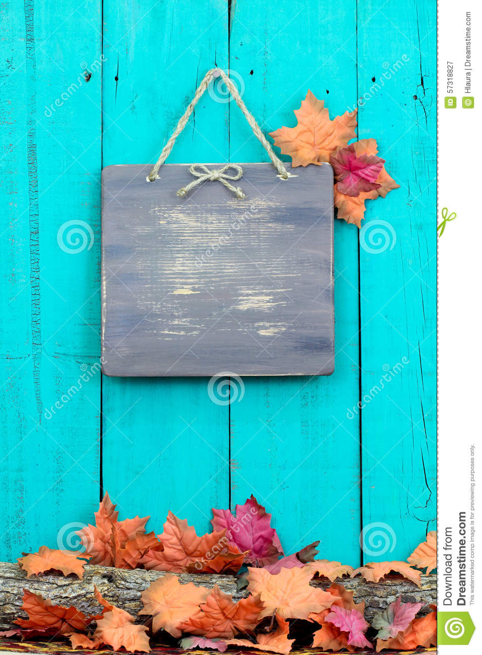 Fall Leaves Desktop Wallpaper Backgrouns Rustic Blank Sign Hanging On Fence By Autumn Decor Border