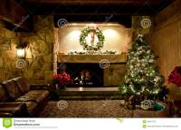 Rustic Christmas Living Room Stock Photo - Image: 20937210