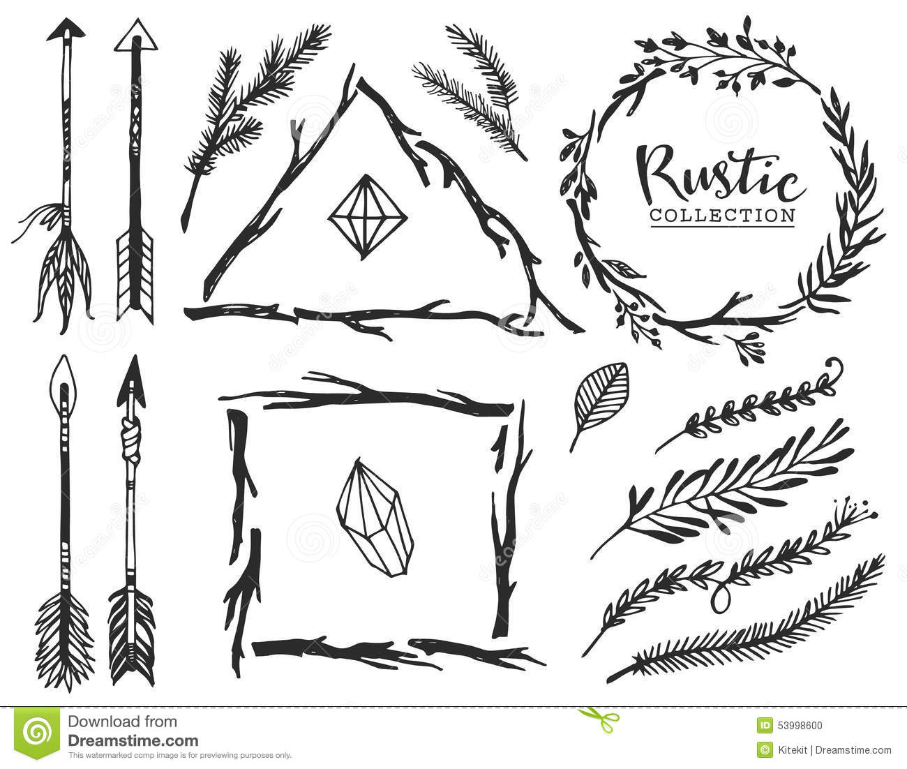 Rustic Arrow Stock Illustrations 2 272 Rustic Arrow