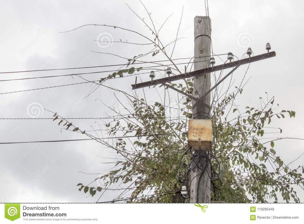 medium resolution of rusty electrical junction box on an old wooden post electric pole wooden pole