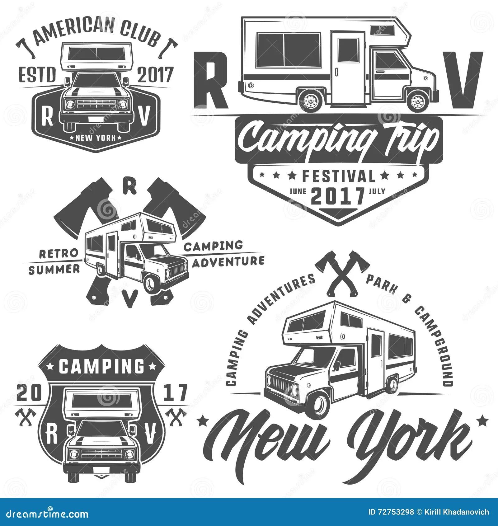 Rv Cars Recreational Vehicles Camper Vans Caravans Emblems