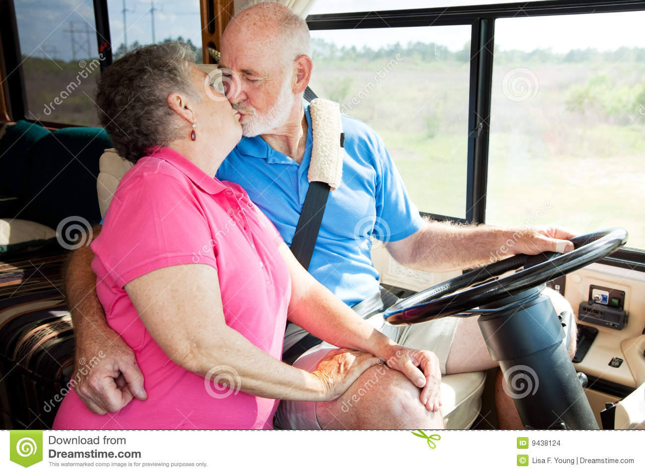 RV Seniors  Driving Distractions Stock Photo  Image 9438124