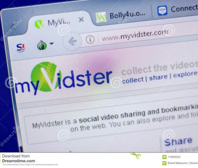 Ryazan Russia June   Homepage Of Myvidster Website On The Display