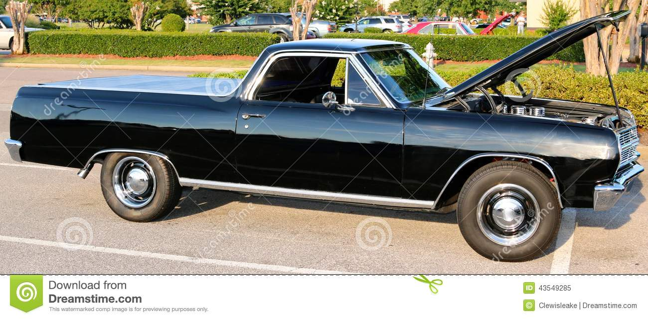 hight resolution of black legendary ford el camino vehicle