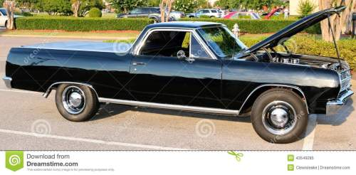 small resolution of black legendary ford el camino vehicle