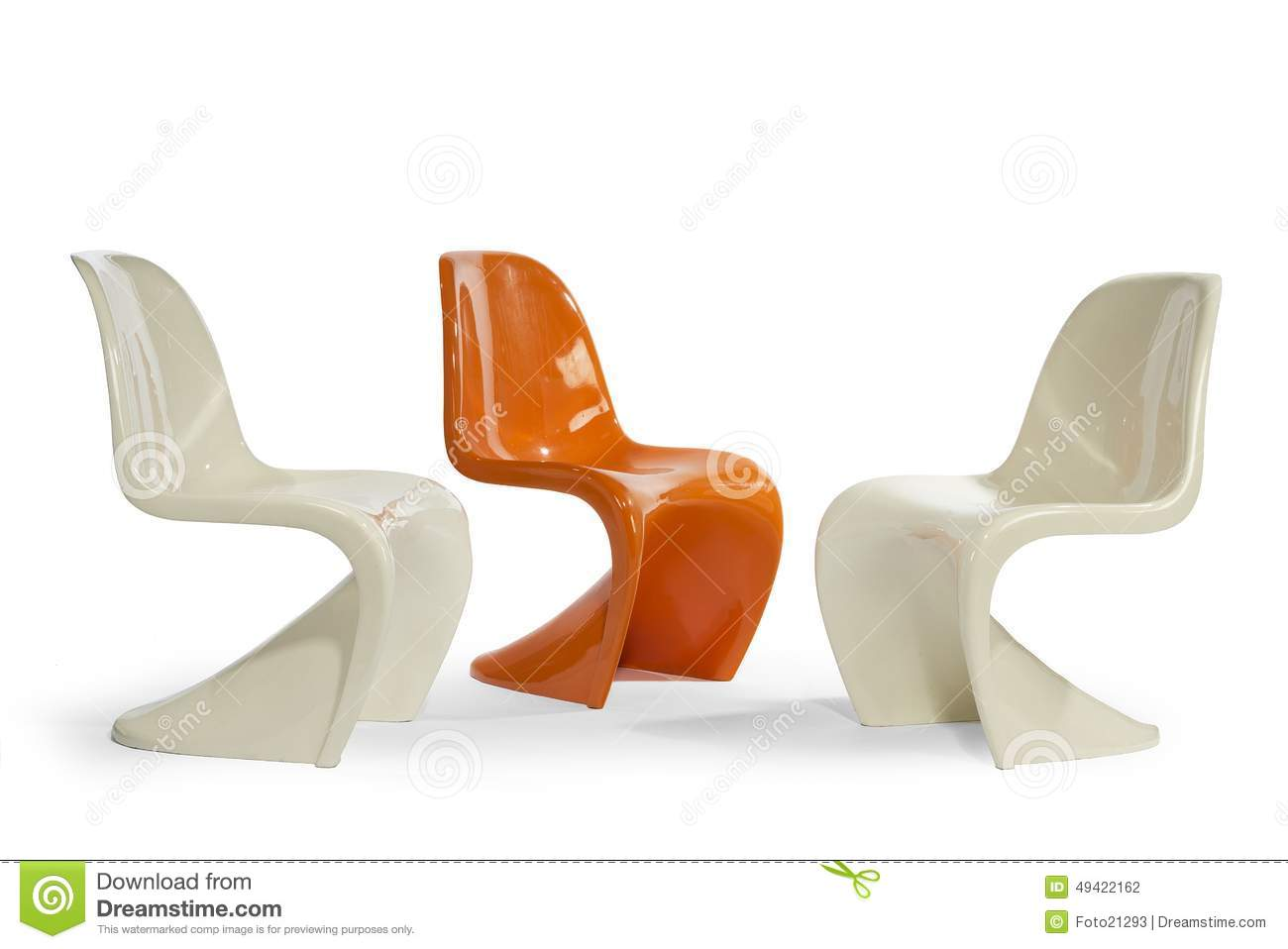 plastic molded chairs tj maxx 1960 -70's moulded stock photo - image: 49422162