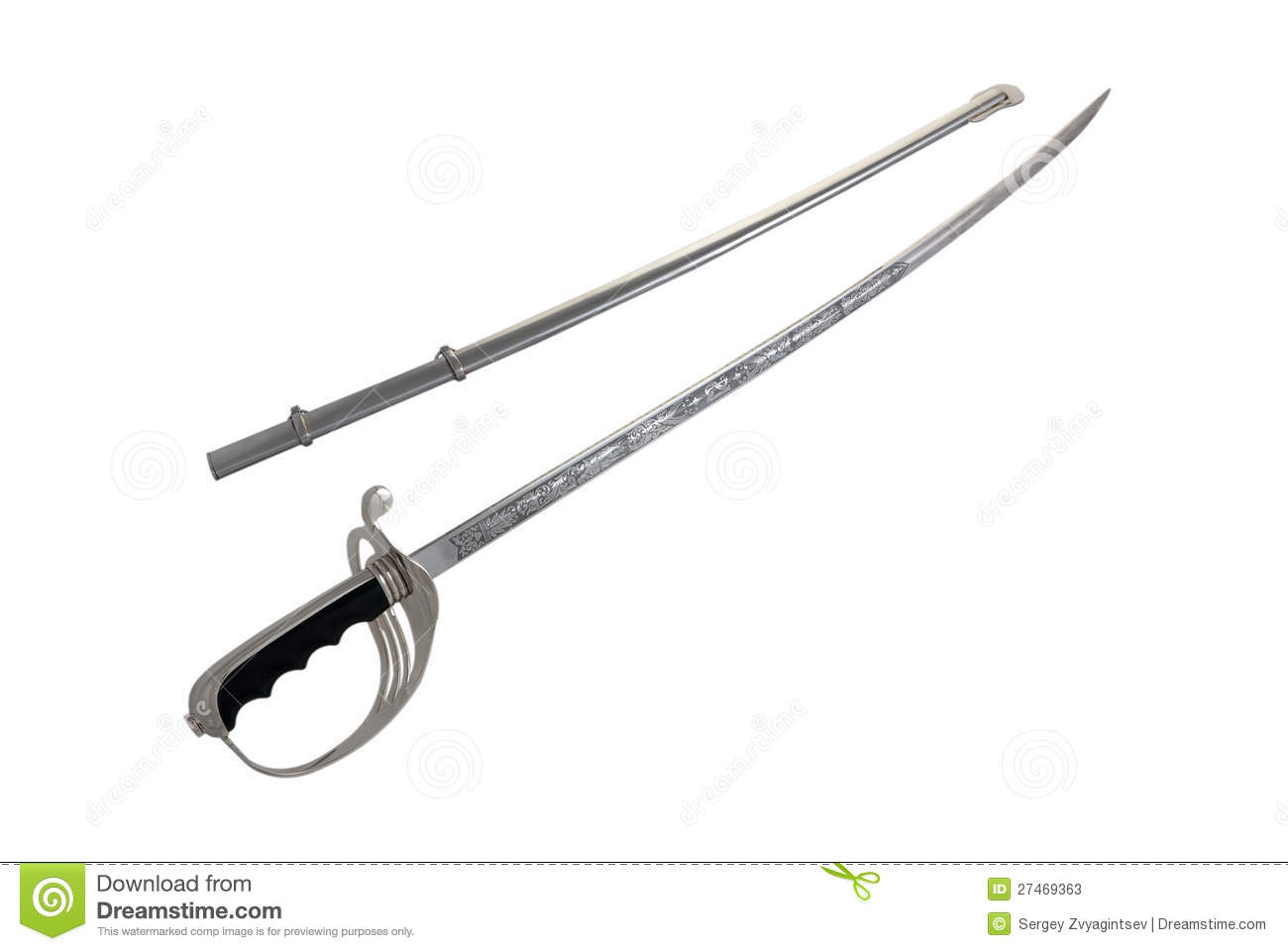 Sabre With Metal Scabbard Stock Image Image Of Object