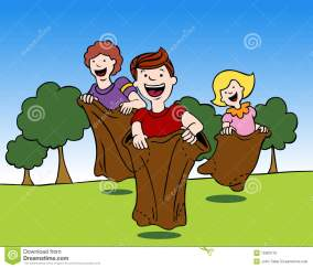 Image result for sack race clipart