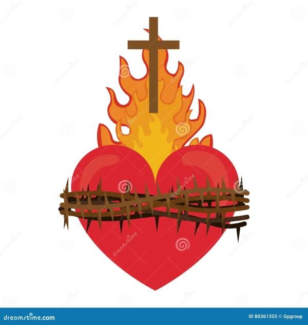 Sacred Heart Of Jesus Stock Vector. Illustration