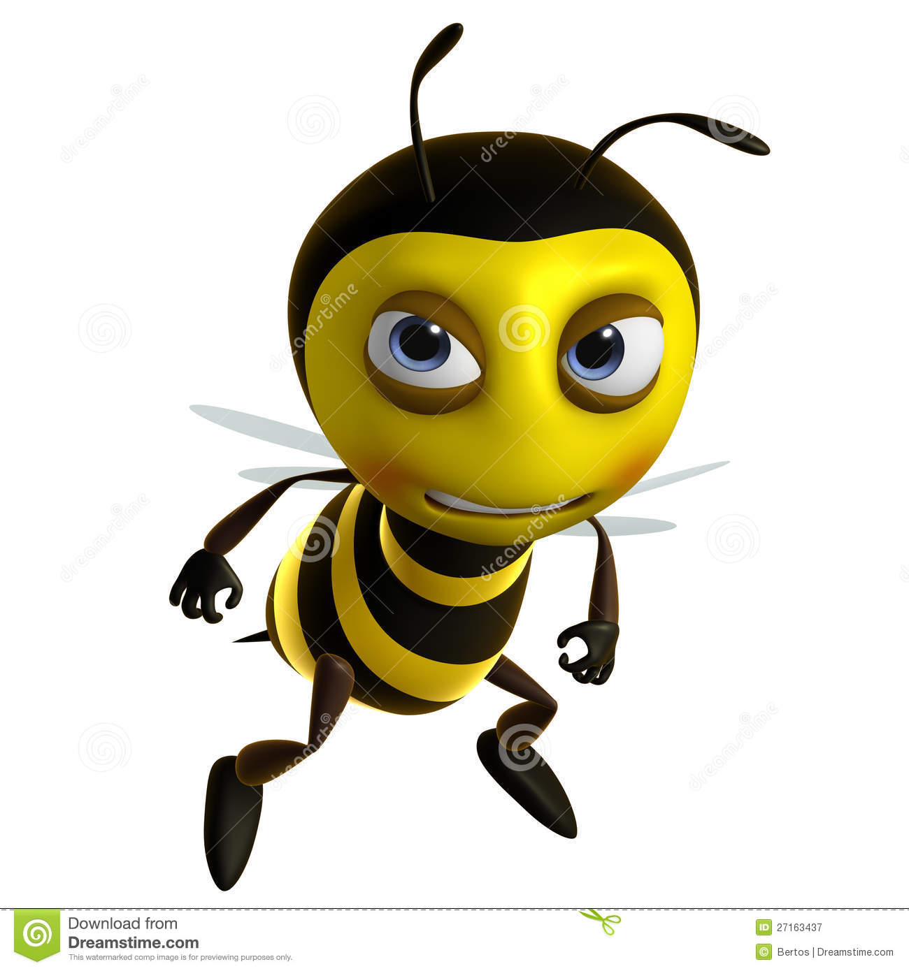 Sad Bee Stock Illustration Illustration Of Wing Insect