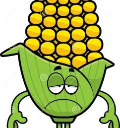 sad cartoon corn [ 998 x 1300 Pixel ]