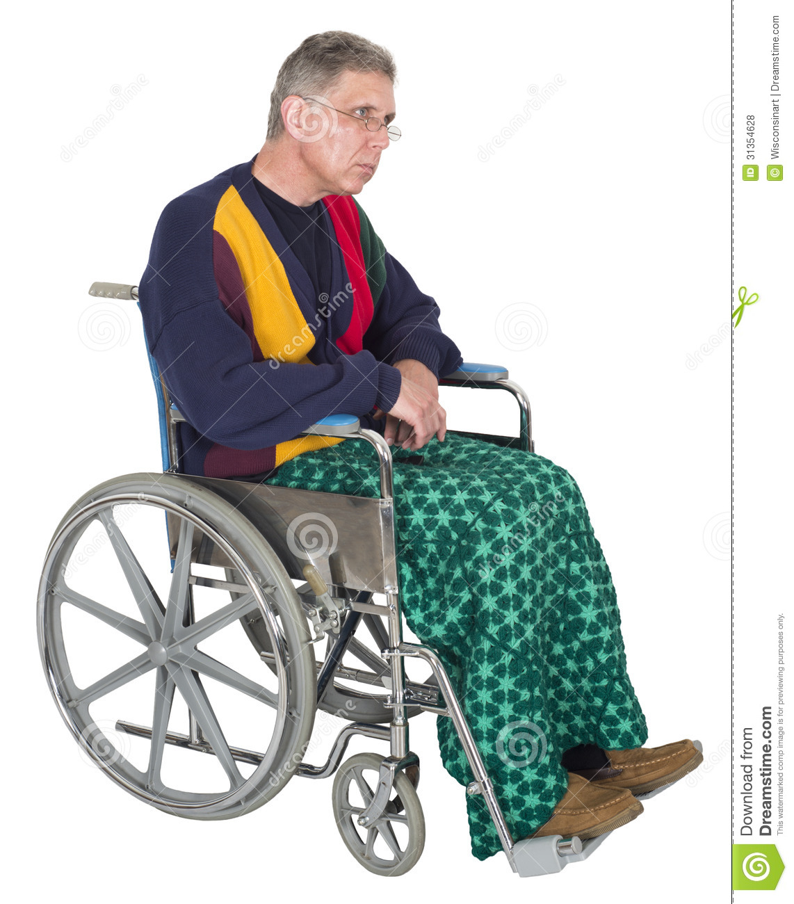 wheelchair man la z boy office chair sad lonely senior elderly isolated stock photo a sits in on white