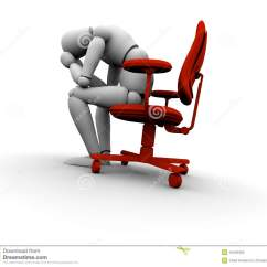Office Sitting Chairs Outdoor High Top Table And Set Sad Person On Chair Stock Illustration