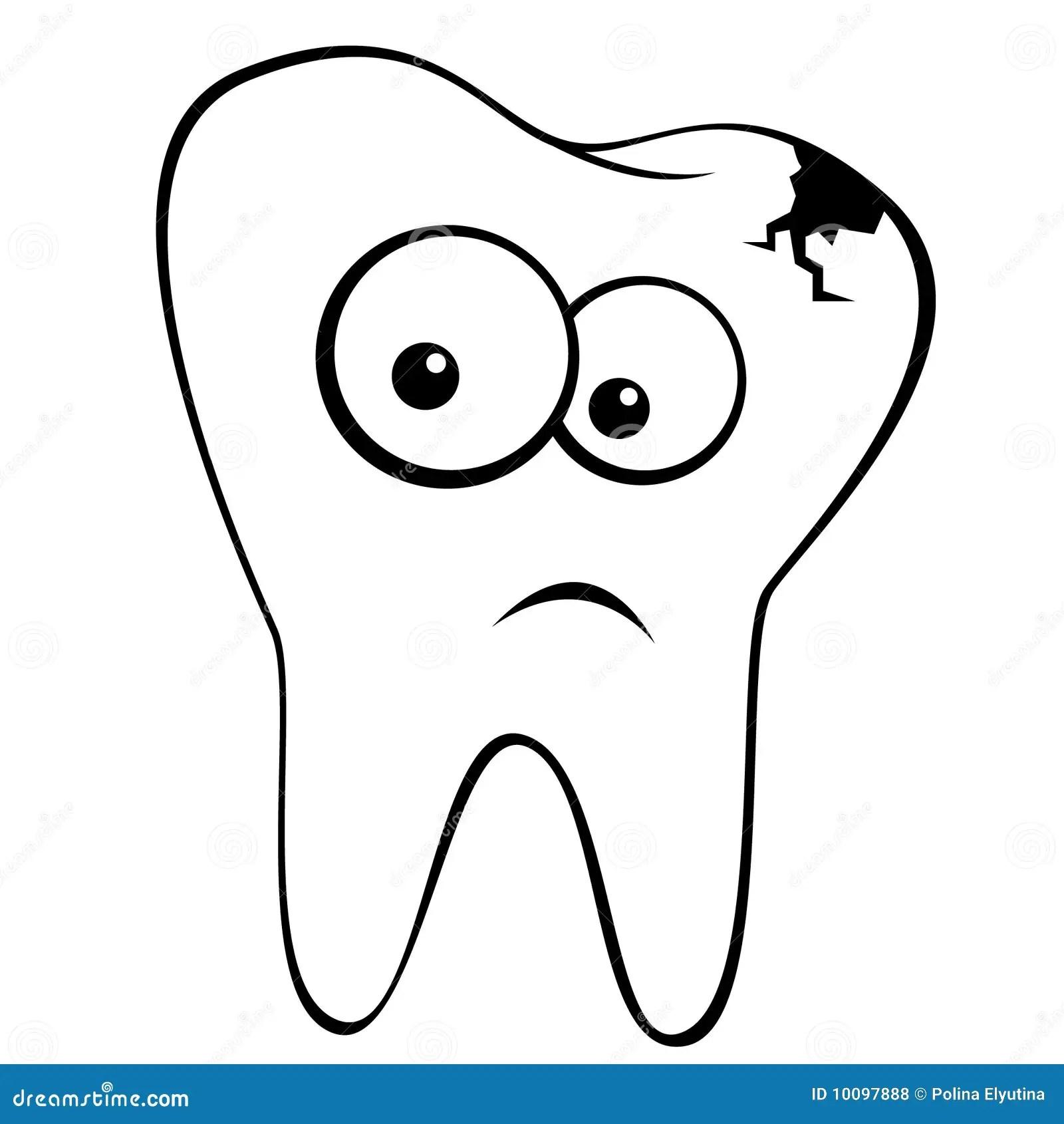 Sad Tooth Stock Vector Illustration Of Vector Dental