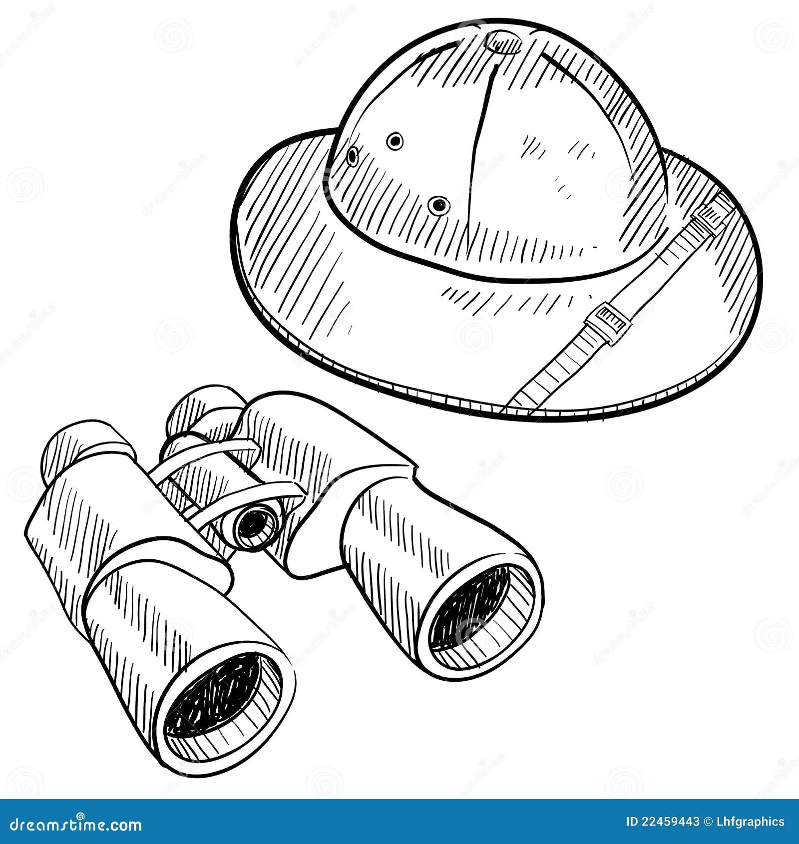 Safari Gear Drawing Stock Photos