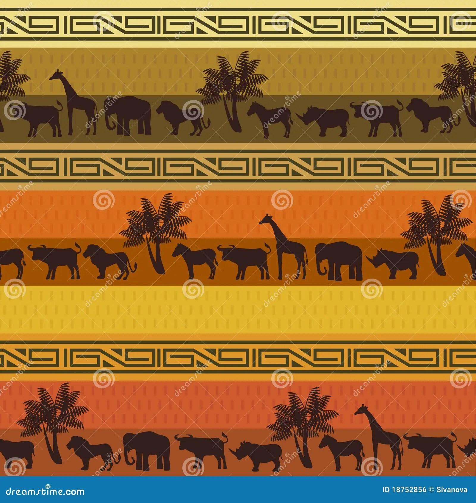 Red Animal Print Wallpaper Safari Pattern Background Stock Vector Image Of Mammal