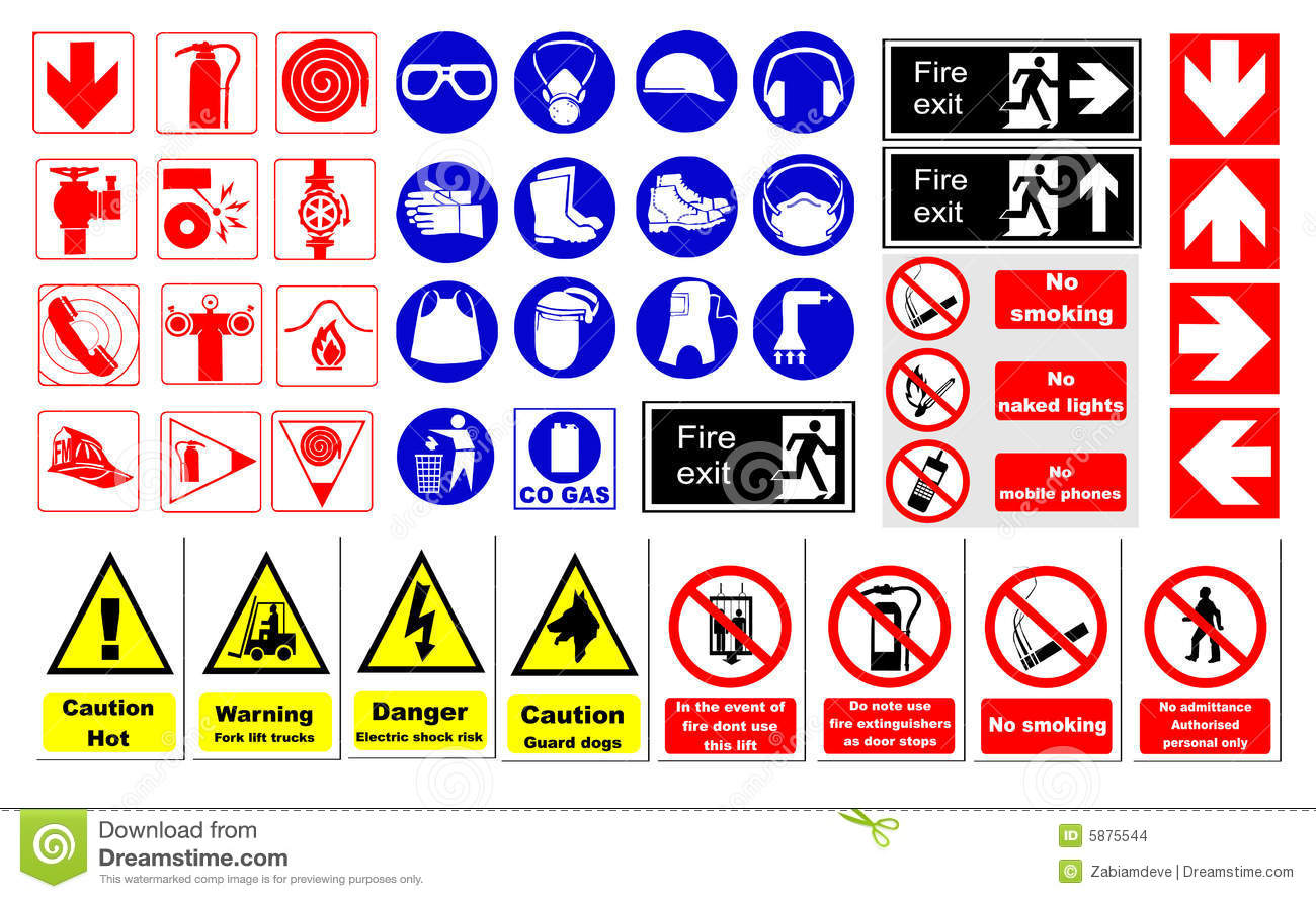 Safety Signs Stock Vector Illustration Of Extreme