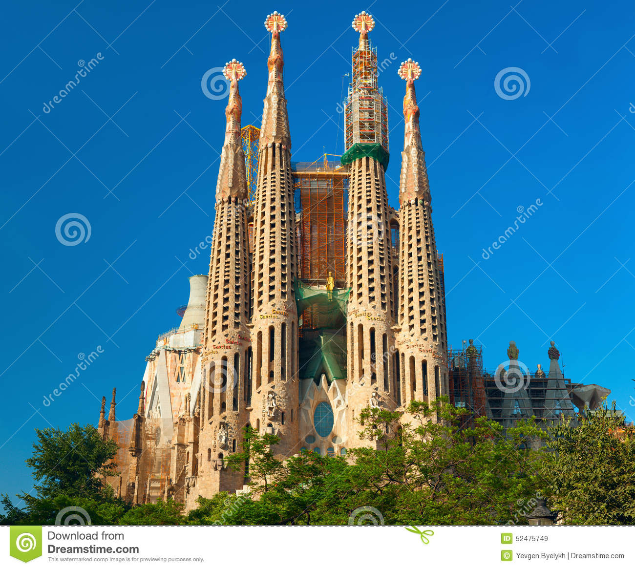 Sagrada Familia Church Barcelona Spain Stock Photo