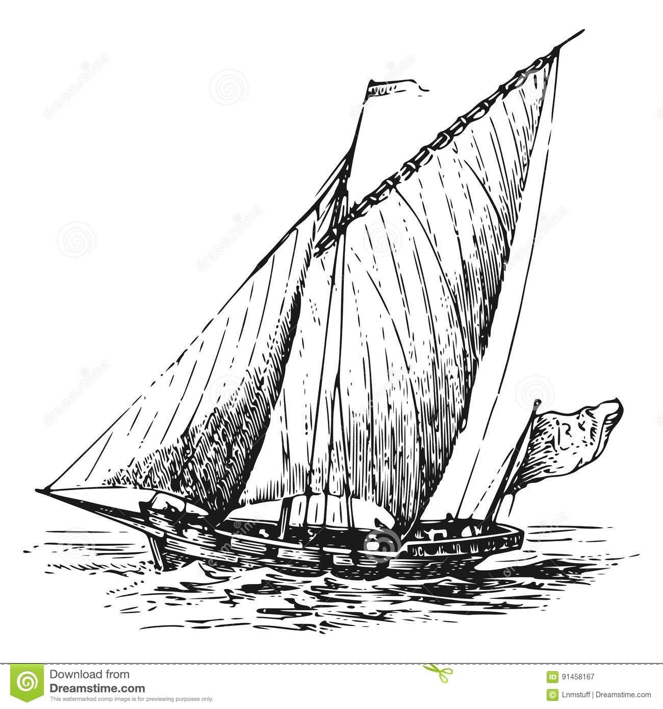 Illustration Of Little Pirates Sail With The Ship Cartoon