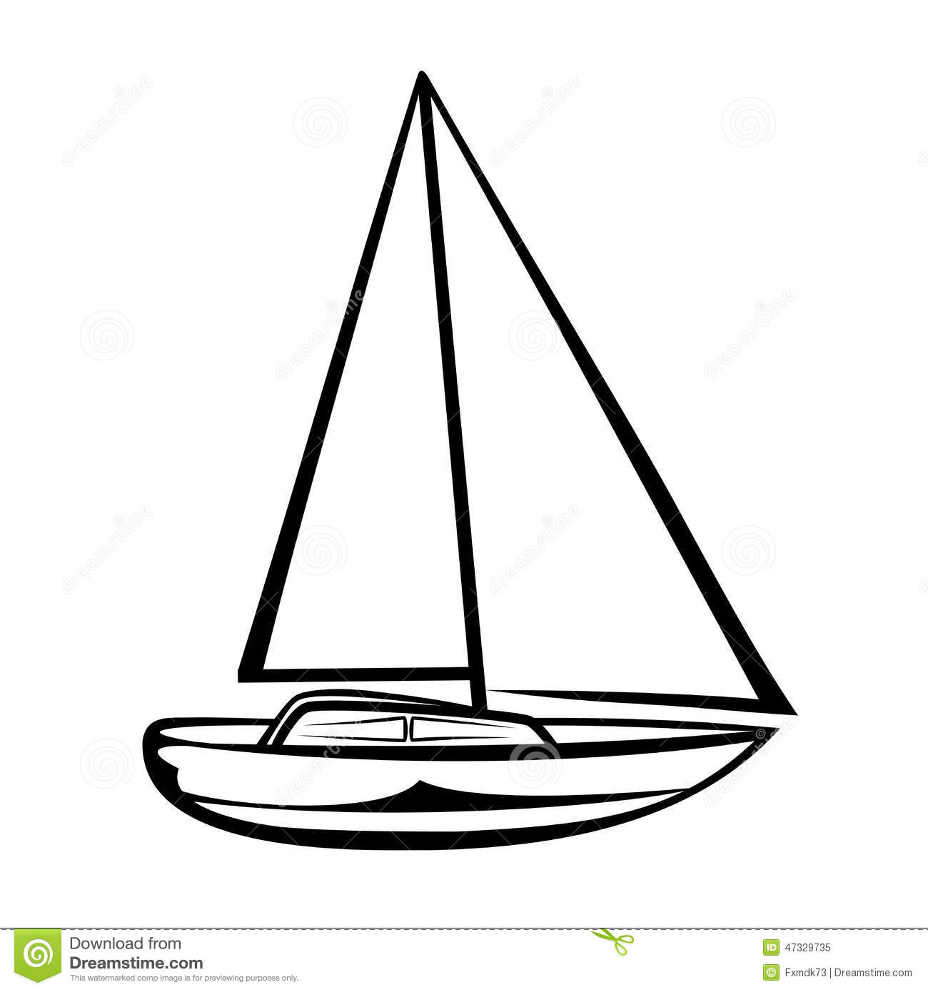 Sailing Boat Stock Vector