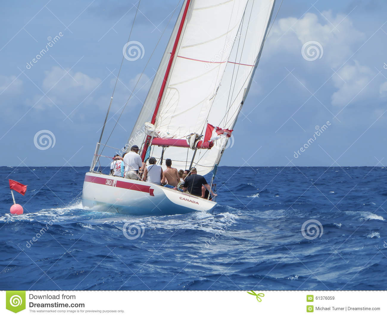 Sailing In The Caribbean Editorial Stock Image Image
