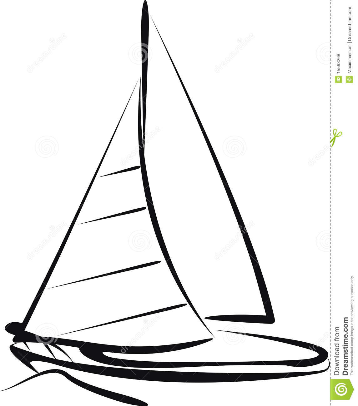 Sailing Ship Stock Vector Illustration Of Wave Sailing