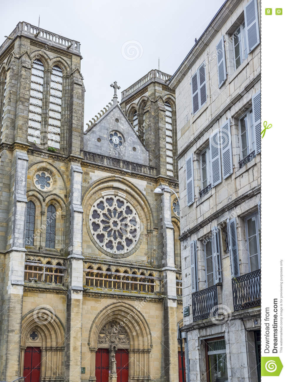 Saint Andre Church In Bayonne France Stock Photo Image Of