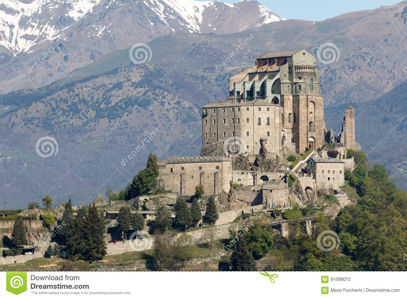 Saint Michaels Abbey Of The Val Di Susa Torino Italy