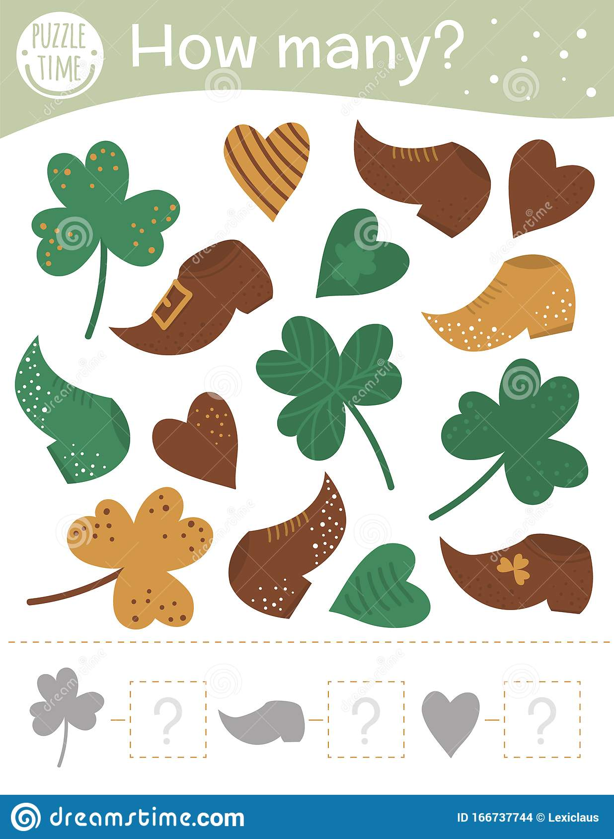 Saint Patrick S Day Counting Game With Holiday Symbols