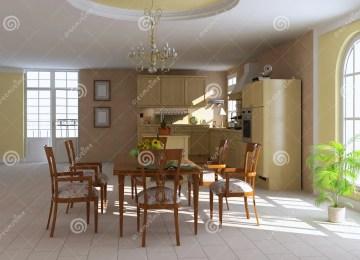 Cucina Sala Da Pranzo   Sala Da Pranzo Moderna Di Lusso Con La ...