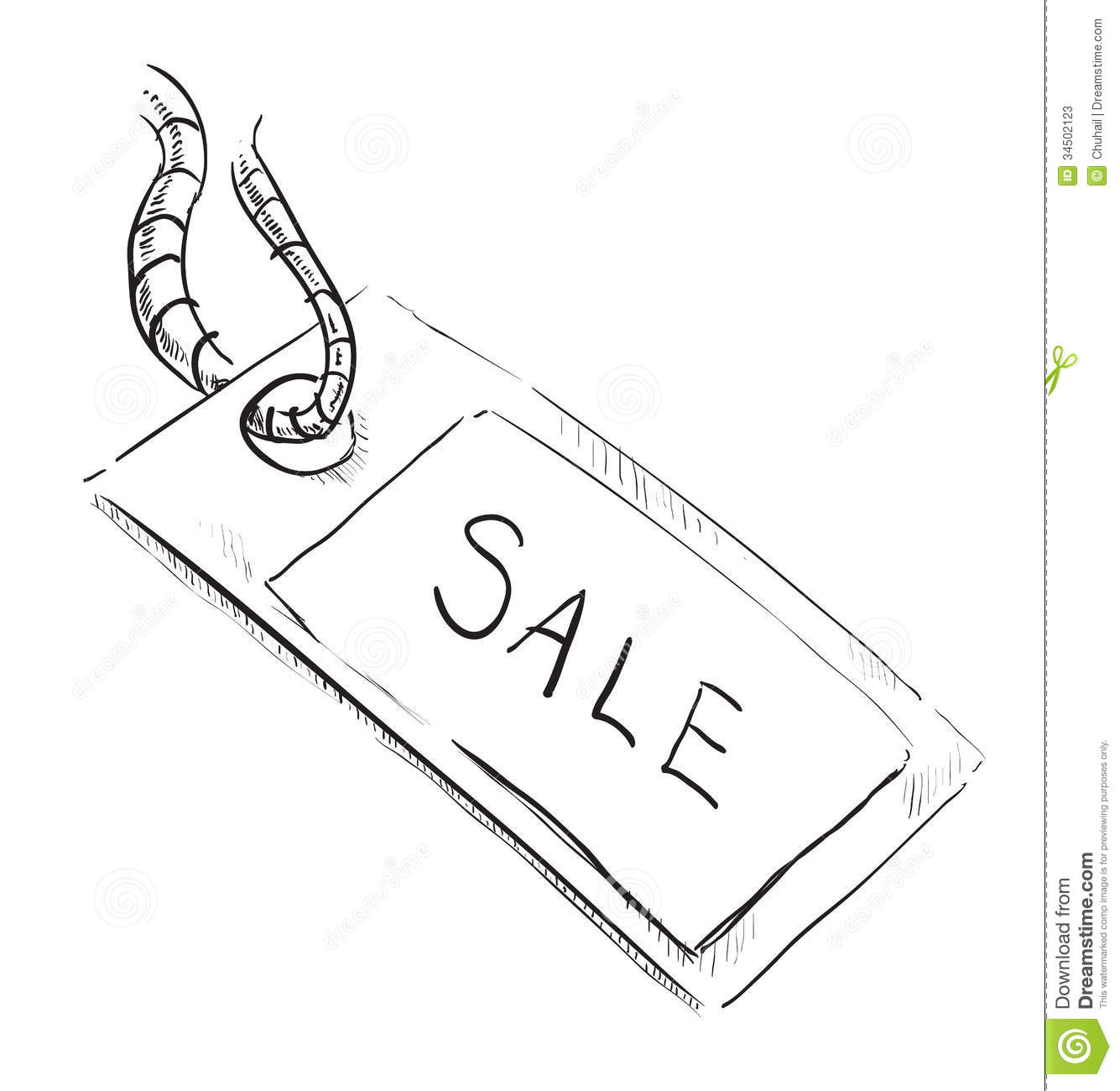 Sale Luggage Tag Icon Stock Vector Illustration Of