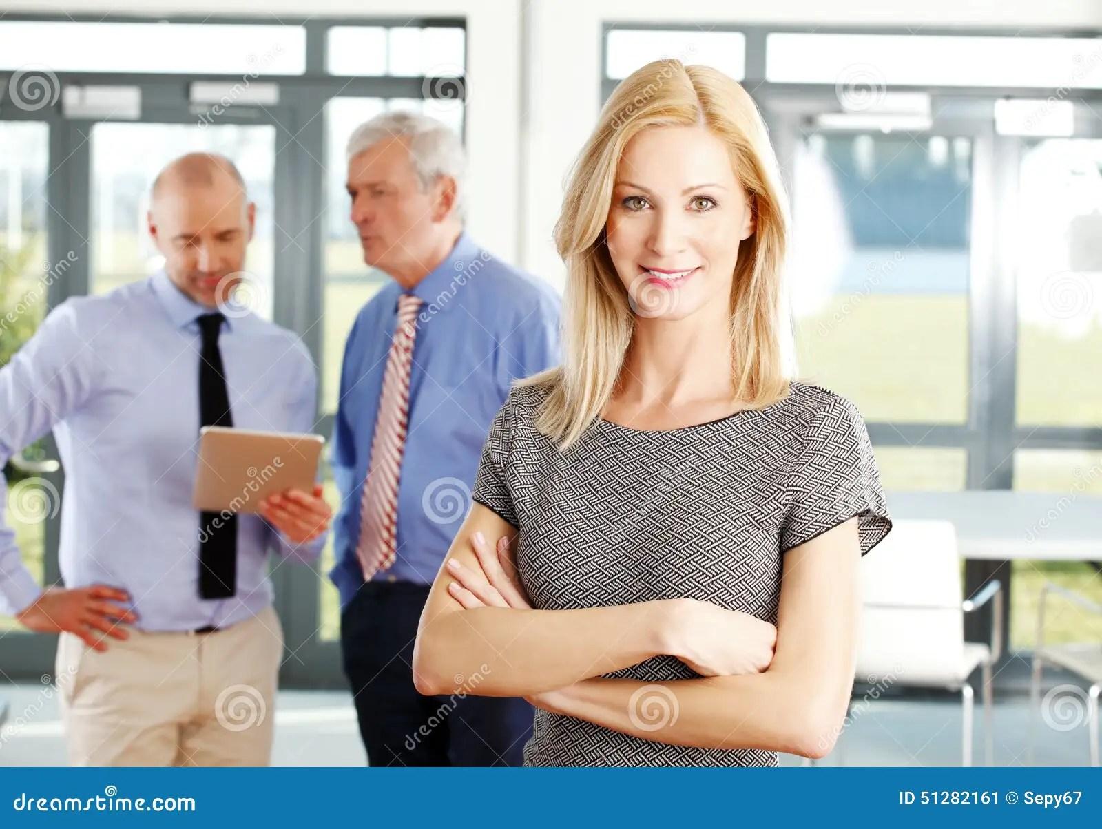sales woman portrait stock